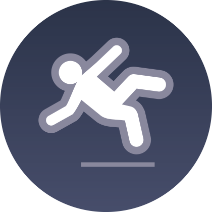 Slips Trips and Falls Icon